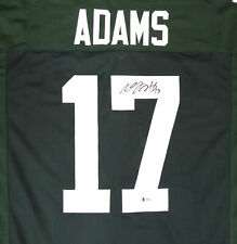 GREEN BAY PACKERS DAVANTE ADAMS AUTHENTIC AUTOGRAPHED SIGNED GREEN JERSEY 177493