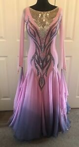 Competition ballroom dress Pink Ombré Approx Size 10
