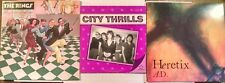 "Boston Post Punk 3 LP EP Lot~City Thrills~The Rings~Heretix A.D. Promo 10"""