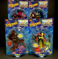 1998 TOY BIZ SPIDER-MAN WEB SPLASHERS SERIES 3  4 FIGURE SET AQUA CARNAGE D81
