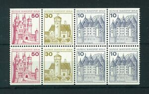 Germany Berlin 1971 German Castles booklet pane. MNH. Sg B516ab
