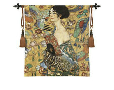 "Medieval Old Tapestry Wall Hanging Gustav Klimt Lady  Wall Hanging, 39""x39"""