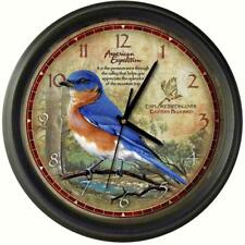 AMERICAN EXPEDITION BLUEBIRD WALL CLOCK 11.5 INCHES ROUND