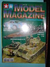 """REVUE """"TAMIYA MODEL MAGAZINE N°77 SEPTEMBRE 2005 ALPINE A110 PANZERKAMPFWAGEN VI"""