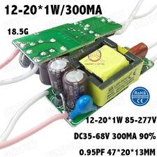 5PCS 85-277V LED Driver 12-20x1W 300mA DC35-68V PFC Constant Current 12-20PCS 1W