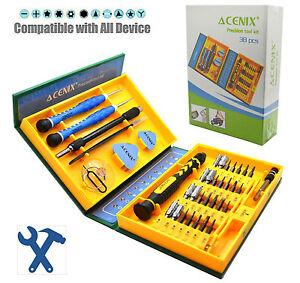 38 Pc Premium Screwdriver Set Repair Tool Kit Fix iPhone laptop macbook wii psp