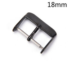 1X 16 18 20 22 24mmStainless Steel Needle Buckle Parts Watch Band Strap Clasp AT