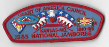 1985 National Scout Jamboree JSP Heart of America Council Red Bdr.  [MK1699]