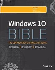 WINDOWS 10 BIBLE (9781119050056) - JIM BOYCE, ET AL. ROB TIDROW (PAPERBACK) NEW