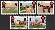 ISLE OF MAN MNH UMM STAMP SET 2001 HORSE RACING PAINTINGS SG 942-946