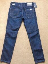 "REPLAY ANBASS M914 Men's Slim Fit Dark Blue Jeans, Size W34"", L32"", RRP£125"