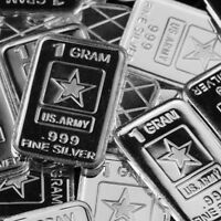 Lot 30 X 1 Gram  .999  Fine Pure Silver Bar Bullion  /  U.S Army /   M1PT211 oz