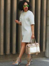 NWT GAP Heather GRAY Scuba T Shirt Dress/Tunic Top Neoprene size PL
