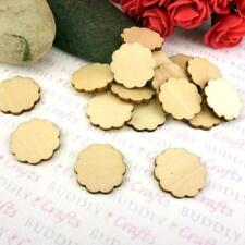 Buddly Crafts Bare Wood Scalloped Circles - 18pcs 20mm W39