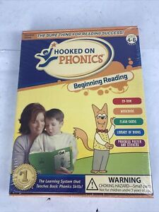 Hooked on Phonics BEGINNING READING 4-6 Pre-K to K NEW SEALED