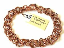 NEW PURE Copper (Double) Round Link Ladies Bracelet Pain Relief Folklore