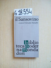 G. MARIACHER - IL SANSOVINO - MONDADORI - 1962