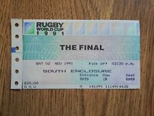 More details for australia v england 1991 used rugby world cup final ticket