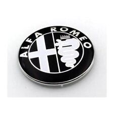 ☆ LOGO ALFA ROMEO 74mm  BLACK  CAPOT/COFFRE   / insigne /sigle ☆