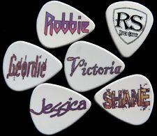 12 personalizzato Custom Plettri Picks elettrica o chitarra acustica