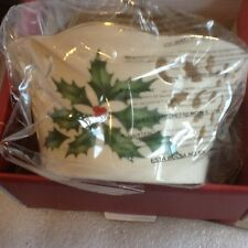 Lenox Cream Holiday Holly & Berries 5� Pierced Round Bowl Nib