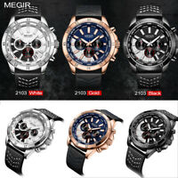 MEGIR 2103 sport impermeabile guardare quarzo orologio regalo calendario quadran