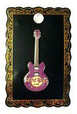 "NEW Collector Pin HARD ROCK CAFÉ Purple & Yellow Guitar 2-1/8"""