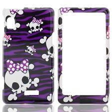 Purple Skulls Case Phone Cover Motorola DROID 2 A955