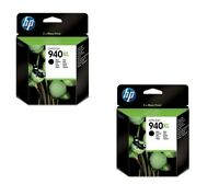 2 x HP 940XL HP940XL BLACK ORIGINAL INK CARTRIDGES NO BOXED C4906A C4906AE