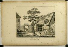 Lithographie XIX, Fable de la Fontaine, Les deux Coqs