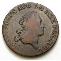 1791 POLAND, 3 GROSSUS GROSCHEN EB COPPER COIN - STANISLAUS AUGUSTUS
