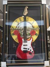 GUNS N ROSES HAND SIGNED & FRAMED GUITAR AXL, SLASH, DUFF, DIZZY