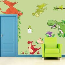 Dinosaurs Removable Wall Decals Mural Vinyl Sticker for Kids Nursery Room Decor
