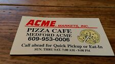 Rare Acme Market Supermarket Pizza Cafe Medford New Jersey Grocery Store Magnet