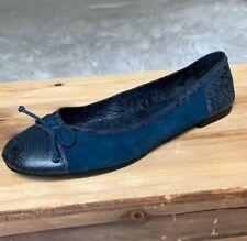 Marc Jacob Blue Suede Ballet Flats Size 9