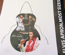 Elvis Presley Apron- guitar shape- different pictures of Elvis- black