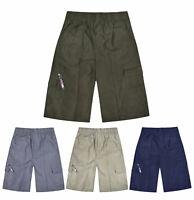 Boys Shorts Chino Summer Knee Length Bottoms Kids New Cargo Shorts Age 3 - 14 Yr
