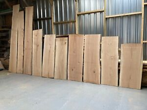 Live Edge Waney Edge Oak boards -  Various Lengths and Widths 36-38mm Thick