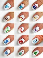 Christmas Symbols Nail Art Stencils - incredible nail art vinyls by Unail