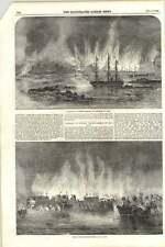 1855 Destruction of Russian casernes et Magazine Bateaux Vieux Salis