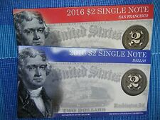 2016 $2 Single Note Collection - Sold Out at BEP