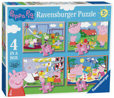 Brand New Ravensburger 4 in a Box Puzzles - Peppa Pig