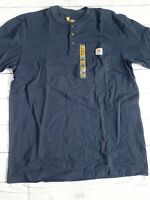 Carhartt Mens Loose Fit Heavyweight Pocket SS T-shirt Navy Blue K84NVY L TALL