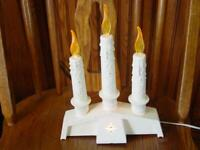 VINTAGE Christmas Candelabra - Empire Co. - 3 Candle Set Decor -Light Up Plug In