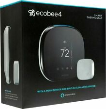 Ecobee 4 Alexa Enabled Smart Thermostat with Room Sensor- Brand New