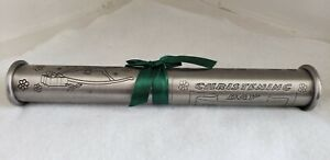 Pewter Engraved Baby Christening Certificate Scroll Holder Tube Personalized