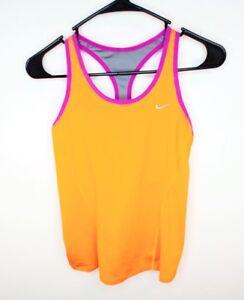 Nike Dri-Fit Women's Running Tennis Racer Back Tank Top Orange Size Medium