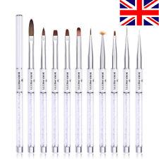 BORN PRETTY Nail Painting Brush Pen White UV Gel Liner Brushes Nail Art Tools