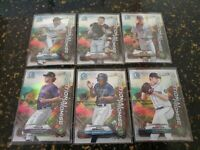 6 Card Lot! 2021 Bowman positional promise Refractor Chrome Partial Complete Set