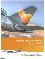 Thomas Cook Airlines Onboard Service Manual VERY RARE AIRLINE MEMORABILIA